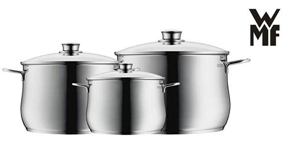 Batería de cocina de 3 piezas WMF Diadem Plus al mejor precio en Amazon