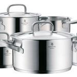 Batería de cocina WMF Gourmet Plus de 5 piezas de acero Cromargan barata