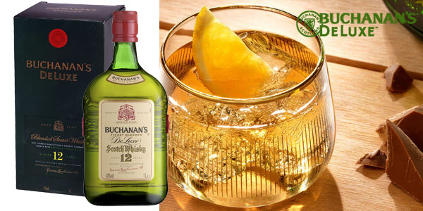Buchanan's Deluxe Whisky Escocés de 12 años botella de 1000 ml chollo en Amazon