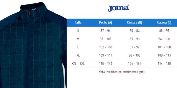 Guía de Tallas Chaqueta cortavientos Joma Olimpia Flash para hombre chollazo en eBay España
