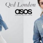 Chaqueta vaquera Boyfriend de QED London con efecto envejecido para mujer chollo en Asos