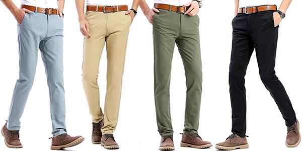 Super baratas bien fuera x comprar popular OFERTA FLASH: Pantalones chinos Harrms de corte ajustado en ...
