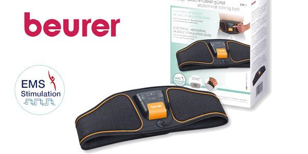 Cinturón electroestimulador abdominal EMS Beurer EM37 con 5 programas y 40 niveles de intensidad barato en Amazon