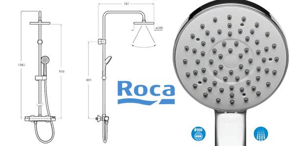 Columna de ducha termostática Roca Colección Victoria A5A9718C00 chollo en Amazon