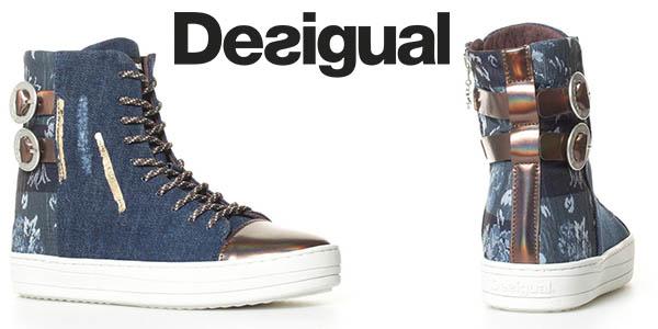 Desigual Denim Patch zapatillas botín para mujer baratas