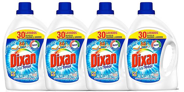 Dixan Gel Total detergente para ropa pack 4 botellas barato