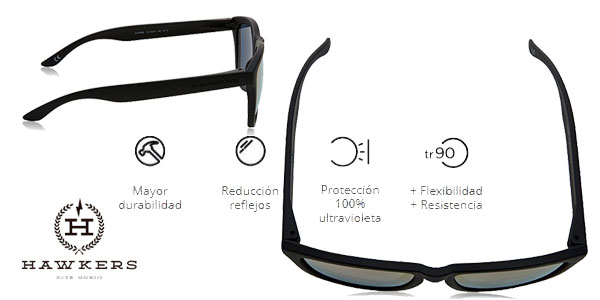 Gafas de sol unisex Hawkers Carbon Black Rose Gold One chollo en Amazon