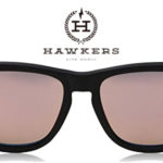 Gafas de sol unisex Hawkers Carbon Black Rose Gold One baratas en Amazon