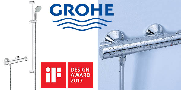 chollazo ducha grohe grohtherm 800 con grifo termost tico. Black Bedroom Furniture Sets. Home Design Ideas