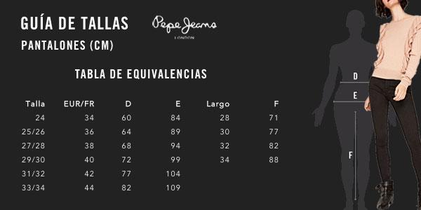 Pantalones vaqueros Pepe Jeans London Regent en color negro para mujer chollazo en Amazon