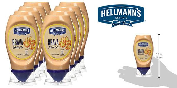 Hellmann's salsa brava 250 ml pack 8 botes barato