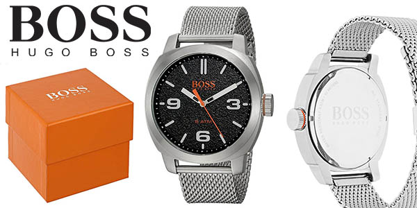 d54b982e57d3 Hugo Boss Cape Town reloj de pulsera en malla de acero plateado para hombre  barato
