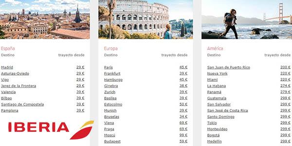 Iberia ofertas antes y después de la temporada de verano con chollos en vuelos