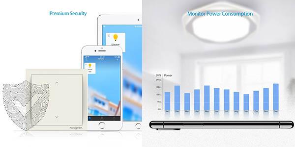 interruptores controlables mediante aplicación móvil Koogeek a precio de chollo