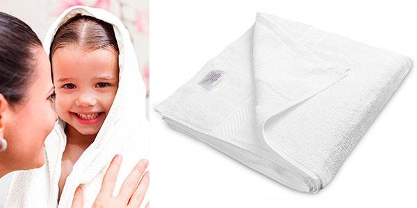 Juego de 6 toallas de baño blancas de secado rápido (56 x 112 cm) en oferta