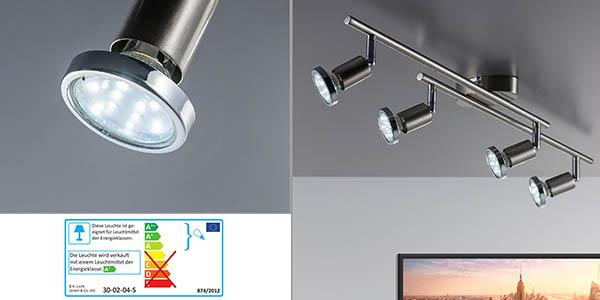 lámpara de comedor y salón con brazos orientables y bombillas LED en oferta