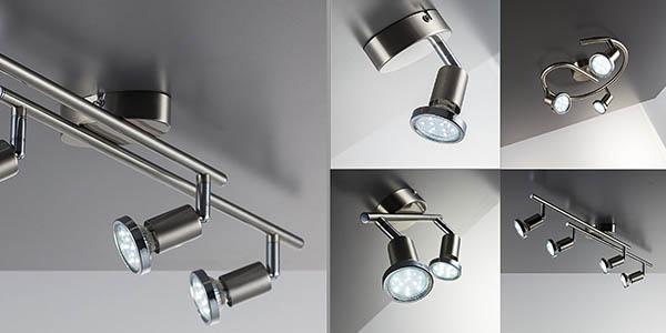 lámpara de techo funcional y de diseño moderno para iluminación de acento con clase energética A+