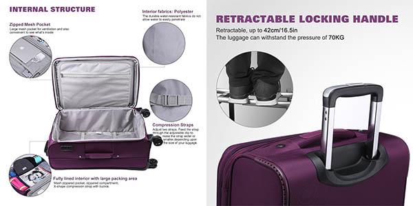 maleta cabina de tela resistente con ruedas WindTook barata