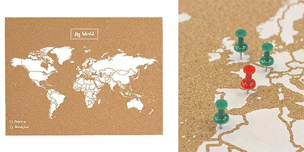mapa mundi Miss Wood corcho chinchetas barato
