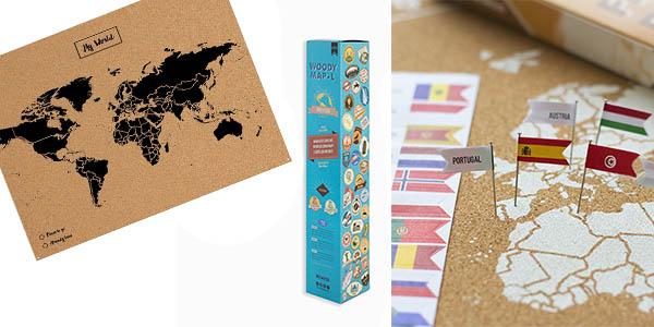 mapamundi Miss Wood ideal regalo viajeros oferta