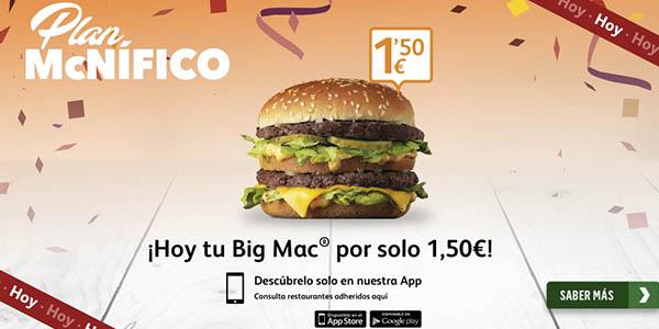 McDonalds Big Mac oferta plan McNífico 26 abril 2018