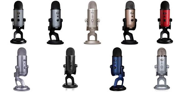 Micrófonos Blue Yeti en varios colores