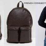 Mochila French Connection de cuero sintético marrón en oferta