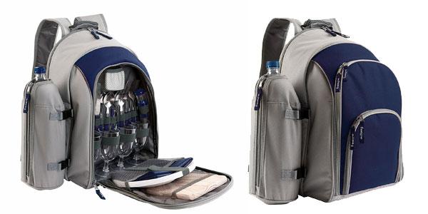 Mochila isotérmica para picnic (4 personas) con cubertería y accesorios oferta en Amazon
