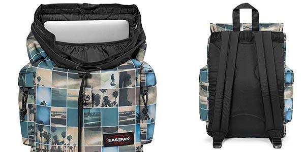 mochila mediana idónea para uso diario Eastpak Austin Filter Sky chollo