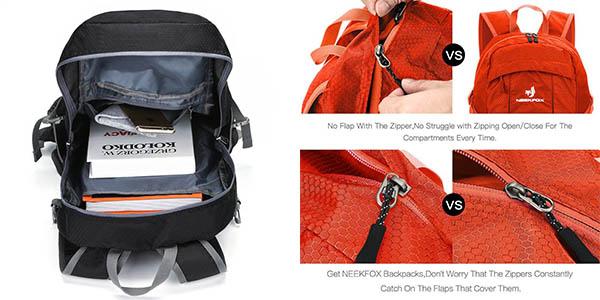 mochila de senderismo Neekfox de diseño cómodo y compacto a precio de chollo