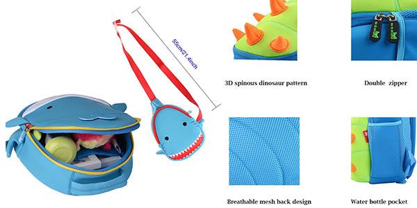 mochilas infantiles Georgie Porgy 3D con formas divertidas a precio de chollo