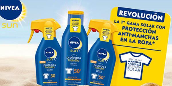 Nivea Sun protección solar 30 en envase de 250 ml protege e hidrata la piel chollo