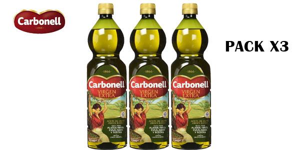 Pack x3 botellas Aceite de Oliva Virgen Extra Carbonell barato en Amazon