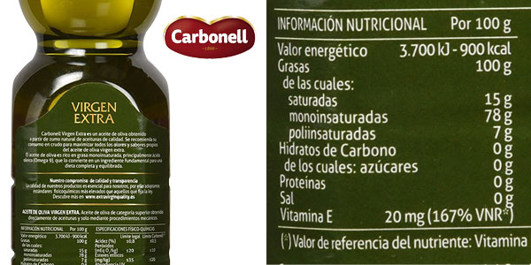 Pack x3 botellas Aceite de Oliva Virgen Extra Carbonell chollazo en Amazon