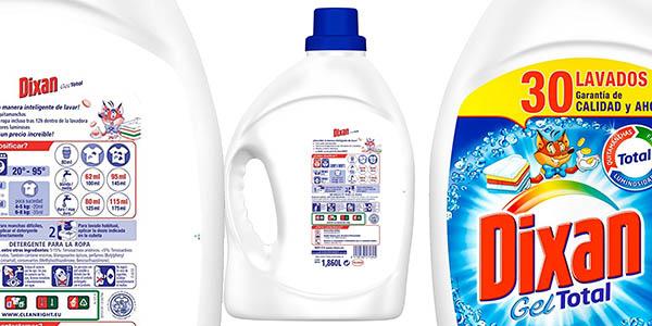 pack 4 botellas Dixan Gel Total detergente para ropa chollo