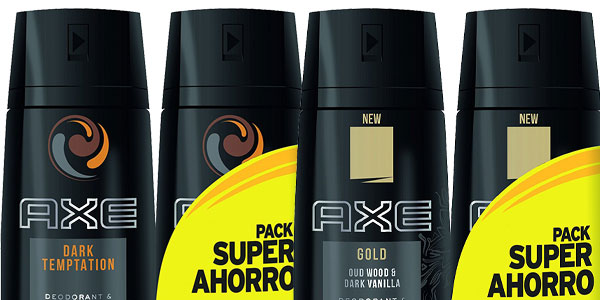 Packs x4 Desodorantes Axe en varias fragancias por sólo 10,26€ chollo en Amazon