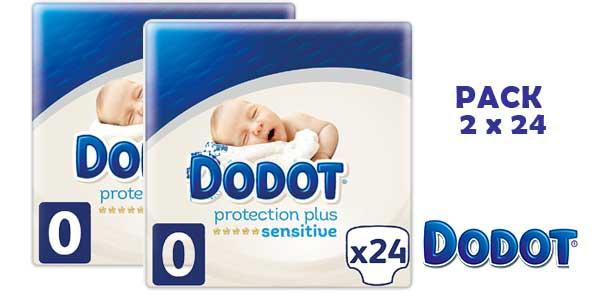 Pack de 48 Pañales Dodot Protection Plus Sensitive Talla 0 barato en Amazon