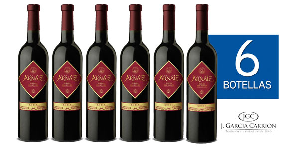 Pack de 6 botellas Viña Arnáiz Roble Ribera del Duero barato en Amazon