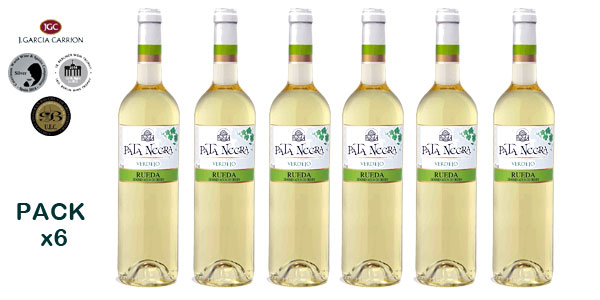 Pack de 6 Botellas x 750 ml Vino blanco Pata Negra Verdejo Rueda barato en Amazon