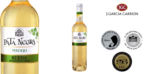 Pack de 6 Botellas x 750 ml Vino blanco Pata Negra Verdejo Rueda chollo en Amazon