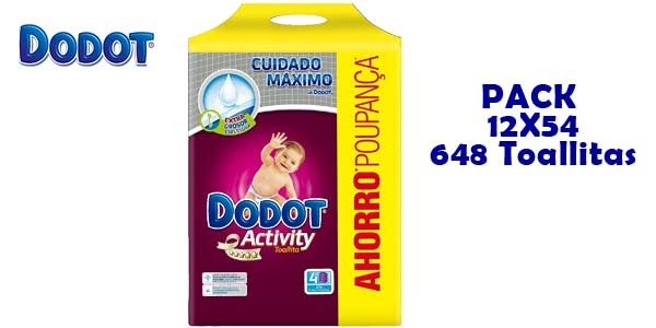 Pack de 648 toallitas Dodot Activity barato en Amazon