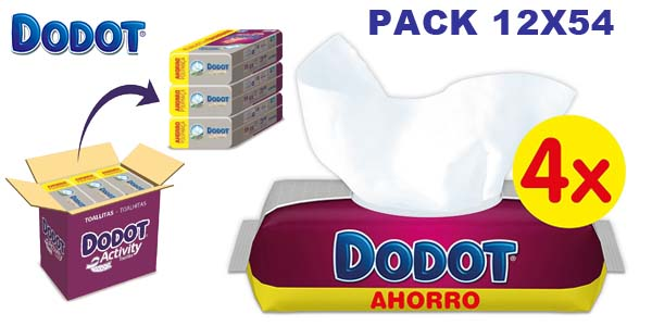 Pack de 648 toallitas Dodot Activity chollo en Amazon