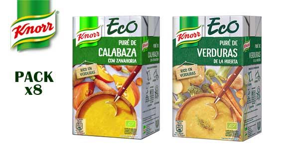 Pack 8 Paquetes Purés Knorr Eco de verduras de la huerta barato en Amazon