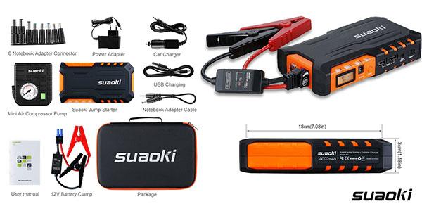 Pack Arrancador de coches Suaoki G7 Plus barato