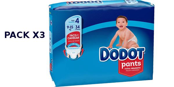 Pack 102 Pañales Dodot Talla 4 (9-15 kg) barato en Amazon