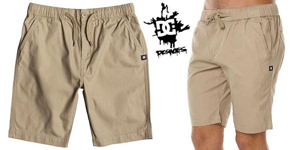 Pantalones cortos DC Shoes Eshott de color beige para hombre baratos