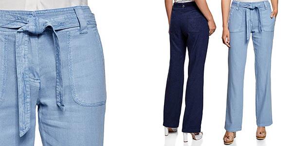 4f10e5b94f82a Chollo Pantalones holgados Oodji Collection en lino y viscosa para ...