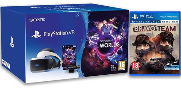 Pack PlayStation VR + Cámara PlayStation 2.0 + VR Worlds + Bravo Team