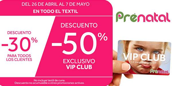 6f751d02e 30% de descuento en Prénatal y -50% para clientes VIP ¡Aprovecha!