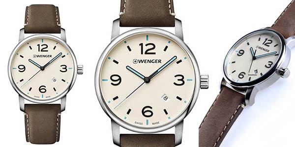reloj de pulsera Wenger de diseño unisex con correa de cuero barato